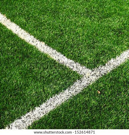 Soccer football field - stock photo