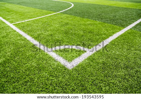 Soccer football field stadium grass - stock photo