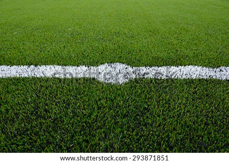 Soccer football field stadium grass line