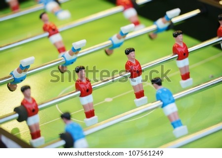 Soccer football game table - stock photo