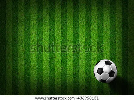 soccer football on grass field - stock photo