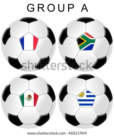 Soccer / Football World Cup 2010 Group A - stock photo