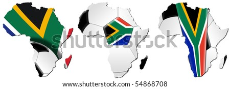 Soccer / Football World Cup 2010 - Map of Africa - stock photo