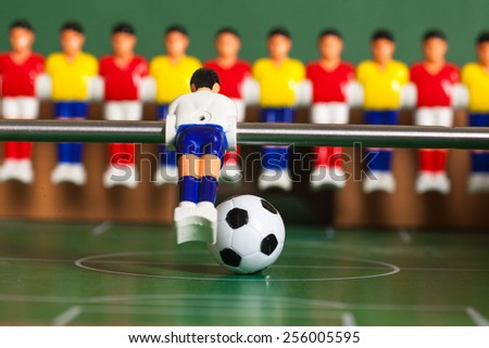 Soccer game ball table - stock photo