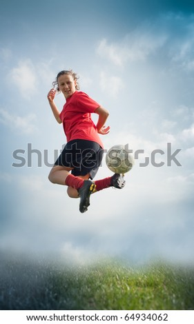 soccer girl - stock photo