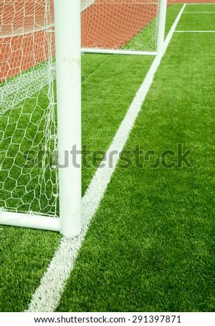 Soccer Goal. Close up - stock photo