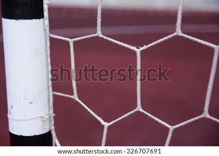 Soccer goal net. - stock photo