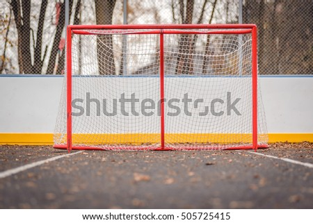 Soccer goal on the Playground