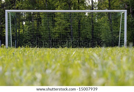 Soccer goalpost, Football goal and pitch