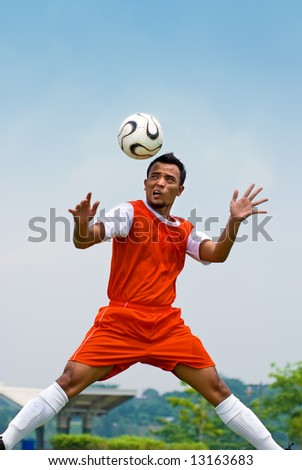 Soccer - heading - stock photo