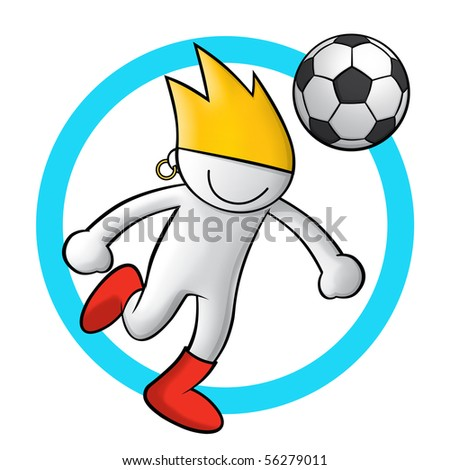 soccer icon 1 - stock photo