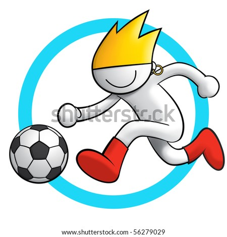 soccer icon 3 - stock photo
