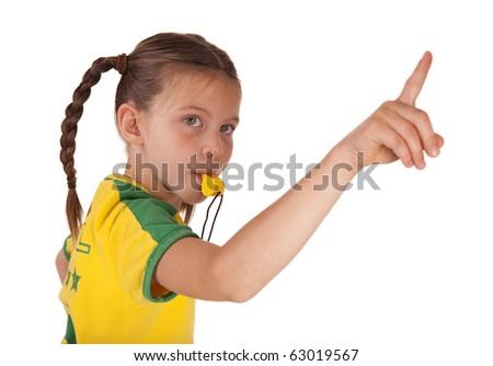 soccer judge - stock photo