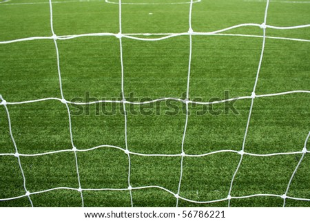 soccer net - stock photo