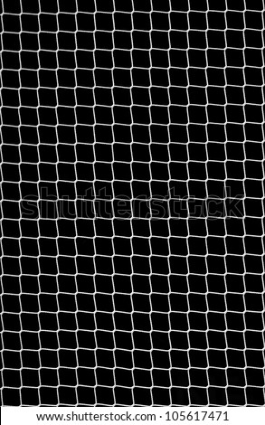 Soccer Net on Black as Design Element - stock photo