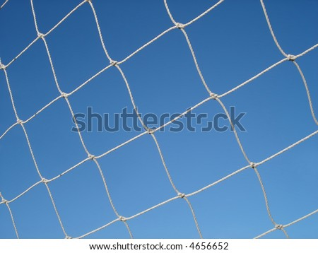 Soccer netting. - stock photo