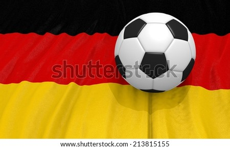 soccer on ball  on the germany flag - stock photo