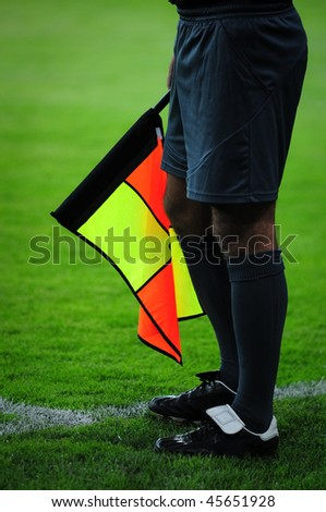 soccer or football assistant referee - stock photo