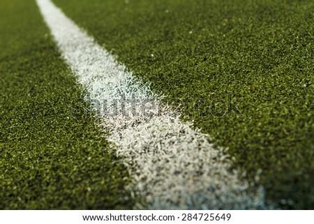 Soccer or football field marking - stock photo