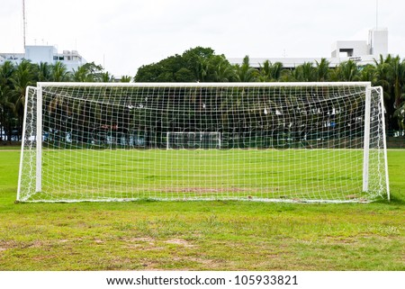 Soccer or football goals - stock photo
