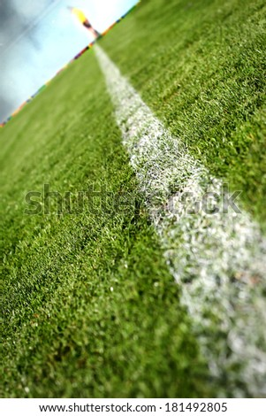 Soccer or football pitch - stock photo