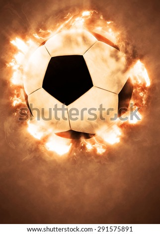 Soccer or football sport poster or flyer background with space - stock photo