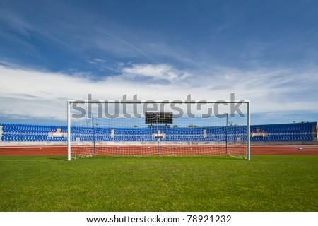 Soccer or football stadium - stock photo