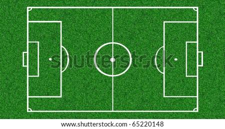 Soccer pitch background - stock photo