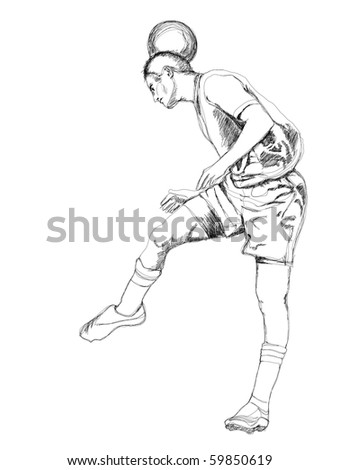 Soccer player. - stock photo