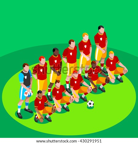 Soccer Player Events Athlete Football Team Stock Vector 429415786 ...