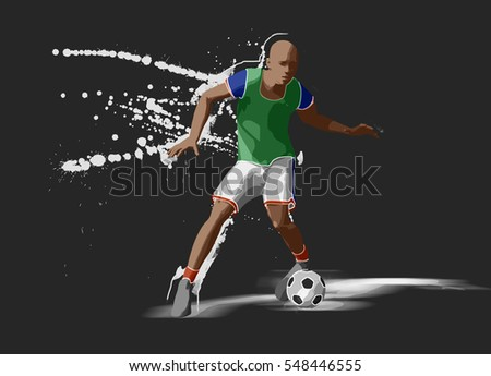 Soccer player, 3d rendering