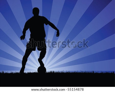 soccer player image - stock photo