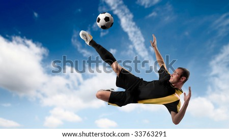 soccer player in action - stock photo
