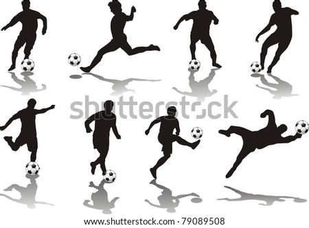 soccer player isolated o white - stock photo