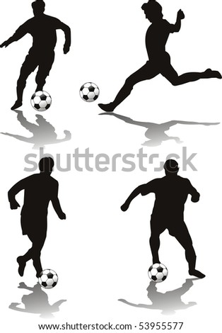 soccer player isolated o withe - stock photo