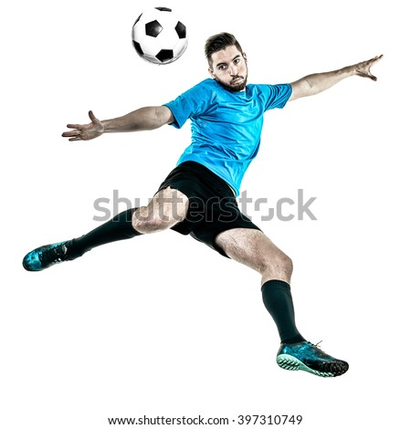 Soccer player Man Isolated - stock photo