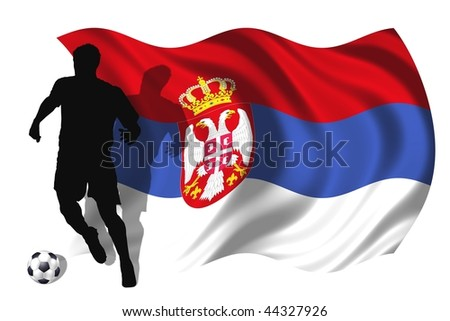 soccer player Serbia - stock photo