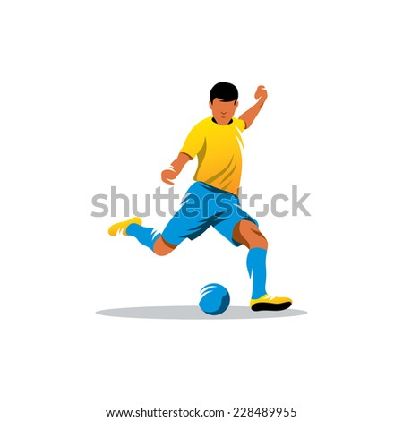 Soccer player sign Branding Identity Corporate logo design template Isolated on a white background