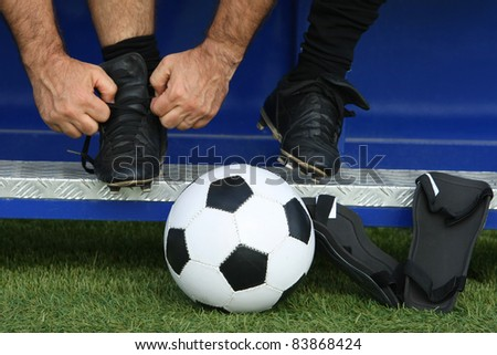 soccer player with a ball - stock photo