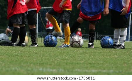 Soccer practice - stock photo