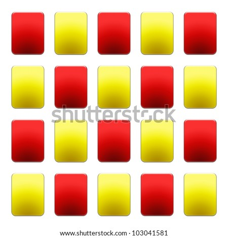 Soccer Red and Yellow Cards Wallpaper - stock photo