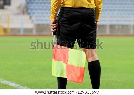 Soccer referee - stock photo