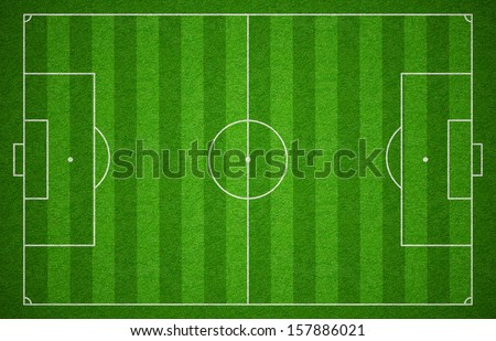 Soccer sport grass playground. Football field or pitch or stadium top view. - stock photo