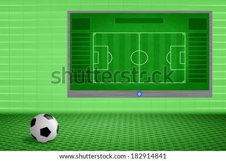 soccer training room - stock photo