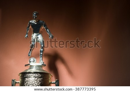 Soccer trophy - stock photo
