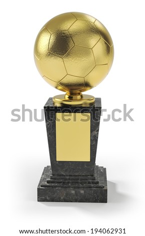 Soccer winner trophy - stock photo