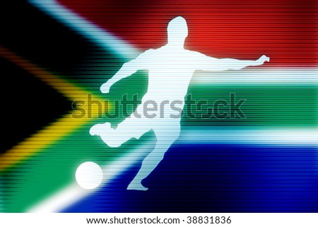 soccer world cup football in south africa image - stock photo