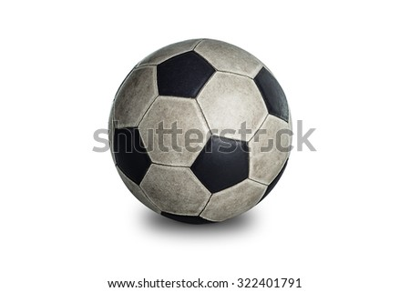 soccerball isolated on white background include vector path for remove background.  - stock photo