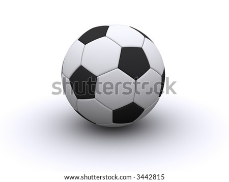 Soccerball isolated over white - stock photo