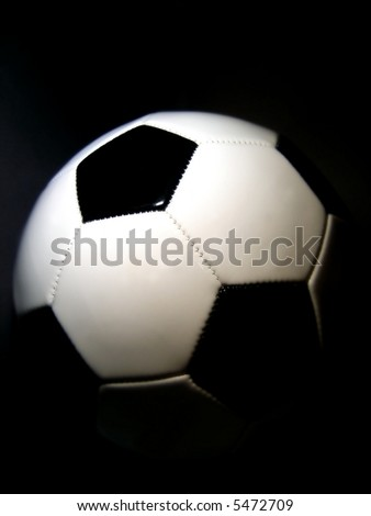 soccerball with a dark background - stock photo